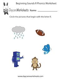 free beginning sounds letter r phonics worksheet for preschool