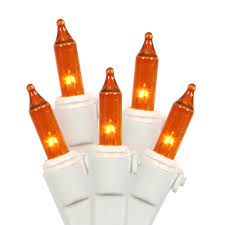 set of 100 amber mini christmas lights white wire walmart com