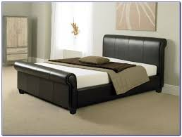 Leather Sleigh Bed Leather Sleigh Bed Queen Bedroom Home Decorating Ideas 14zlel2odp