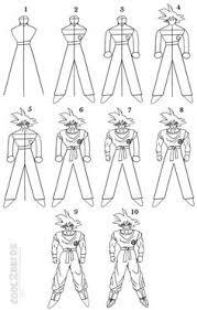 draw goku dragon ball step 03 dicas desenhar