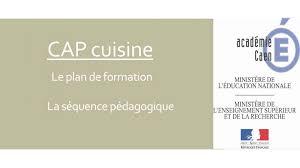 formation cap cuisine cap cuisine le plan de formation la séquence pédagogique ppt