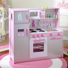 pretend kitchen furniture kidkraft argyle play kitchen with 60 pc food set play kitchens