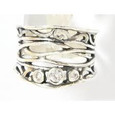 silver zirconia rings images Sterling silver ring cubic zirconia ring hippie ring israeli jpeg