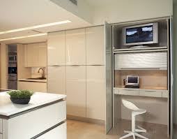 Kitchen Desk Design Space Saving Hideaway Desks For Small Apartment Designs