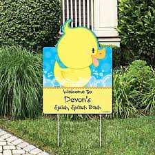 Rubber Ducky Baby Shower Decorations Ducky Duck Baby Shower Decorations U0026 Theme Babyshowerstuff Com