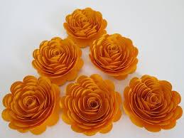 gold paper roses matte 3