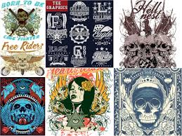 t shirt designs with skulls and other vector free