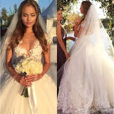 wedding dresses unique discount designer white appliques flower lace gown wedding