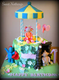 night garden u0027s birthday cake makka pakka iggle piggle