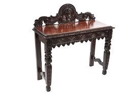 Oak Side Table Antique Carved Oak Side Table C 1880 England From Graver