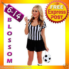 Soccer Referee Halloween Costume F66 Ladies Sports Referee Umpire Football Soccer Fancy Dress