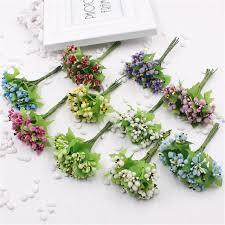 aliexpress com buy 100 pcs lot of glass artificial flower