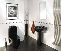 black and white bathroom floor white lacquered wooden framed wall