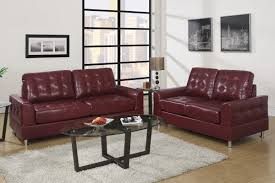 Fabric Sofa Set Burgundy Living Room Walls Square Framed Painting Over White Walls