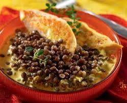 cuisiner lentille lentilles vertes et curry de poulet recette tipiak