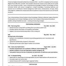 Cna Objective Resume Cna Certified Nursing Assistant Resume Sample Job And Cna