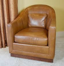 Leopard Print Swivel Chair Vanguard Furniture Caramel Leather Upholstered Swivel Club Chair
