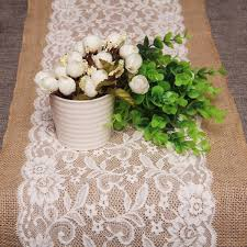burlap table runners wholesale sunnyrain 10 piece luxury lace burlap table runner wedding party