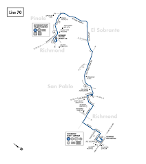 Bart Line Map by 70 Bus Route Ac Transit Sf Bay Transit