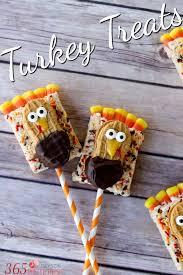 rice krispie treat turkey treats a great thanksgiving craft
