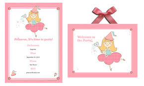 printable princess birthday invitation templates