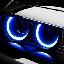 led halo headlight accent lights halo rings headlights fog lights led color changing carid com
