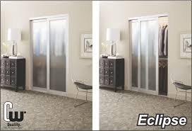 Sliding Glass Closet Door Sliding Closet Doors With Glass Or Mirror The Glass Door Store