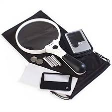 pocket magnifier with light amazon com 3 magnifier bundle xl quality magnifying glass with