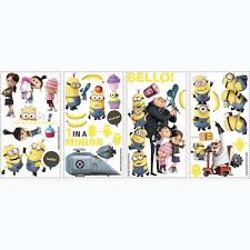 roommates rmk2080scs despicable me 2 peel and stick wall decals roommates rmk2080scs despicable me 2 peel and stick wall decals decorative wall appliques amazon com