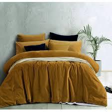 velvet quilt cover set or european pillowcases gold harmony by
