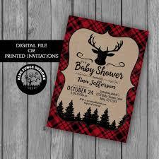baby boy shower invitation red plaid boy baby shower themes