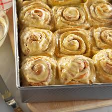 thanksgiving rolls recipe pumpkin eggnog rolls recipe taste of home