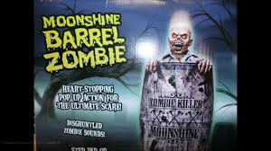 zombie halloween decorations y j animated moonshine barrel zombie halloween decoration youtube