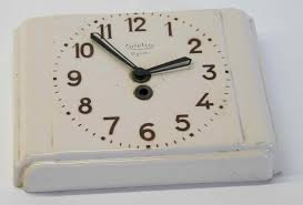 ceramic french art deco kitchen clock omero home