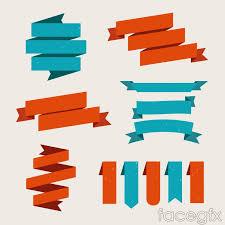 paper ribbons 6 colored paper ribbons design vector millions vectors