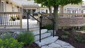 Steps With Handrails Railings Portfolio Endeman U0027s Ironcraft Ltd