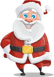 vector santa claus cartoon character mr claus north pole