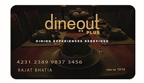 dining gift cards dineout plus premium dining card rs 5000 in gift cards