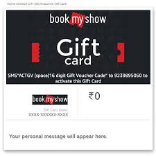 bookmyshow instant voucher amazon in gift cards