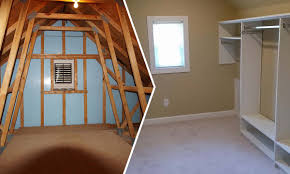 attic conversion planning a second phase charlotte home remodeling before and after attic conversion to master bedroom closet