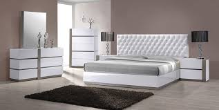 Bed Sets White Mirabelle Modern White Tufted Bedroom Set Contemporary Bedroom