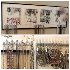 earring necklace organizer images Earring and necklace holder awwake me jpg