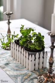 spring table decor picket fence centerpiece darice