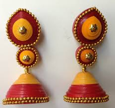 quiling earrings ethnic earring paper quilling buy or do it