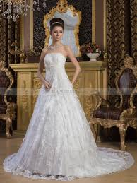 beaded wedding dresses luxury lace satin princess cut beaded wedding gown