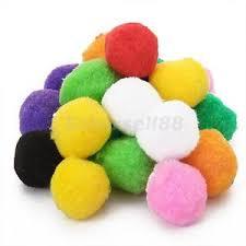40 mixed fluffy felt pom poms assorted colors craft diy