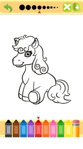 pony colouring and painting book full on the app store
