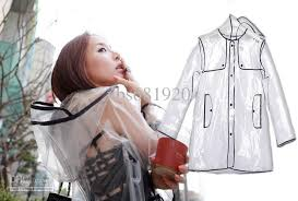 2017 now fashion transparent pvc raincoat runway womens girls men