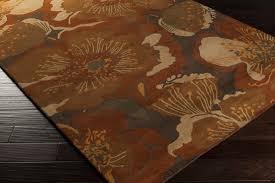 surya athena ath 5102 rust chocolate gold tan area rug
