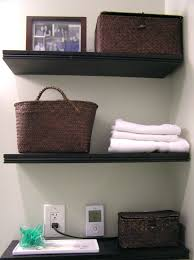 storages black corner floating bathroom towel storage shelves